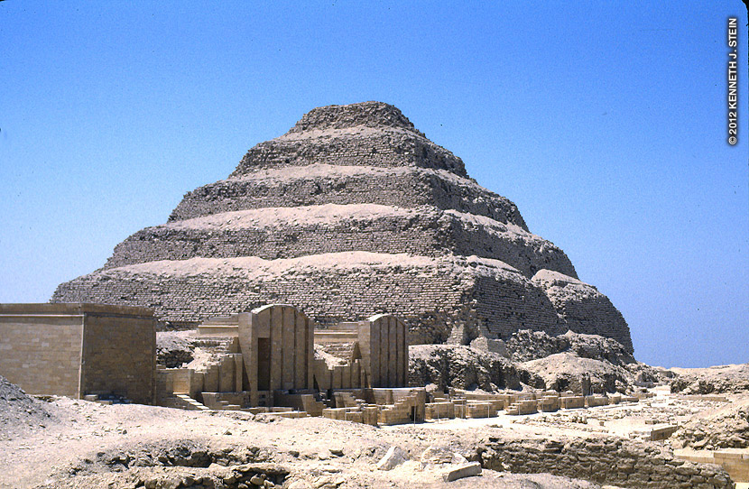 The step pyramid of King Djoser that was built during the 3rd Dynasty, 2630-2611 BC.